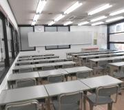 山手学院狭山校  2階の大教室